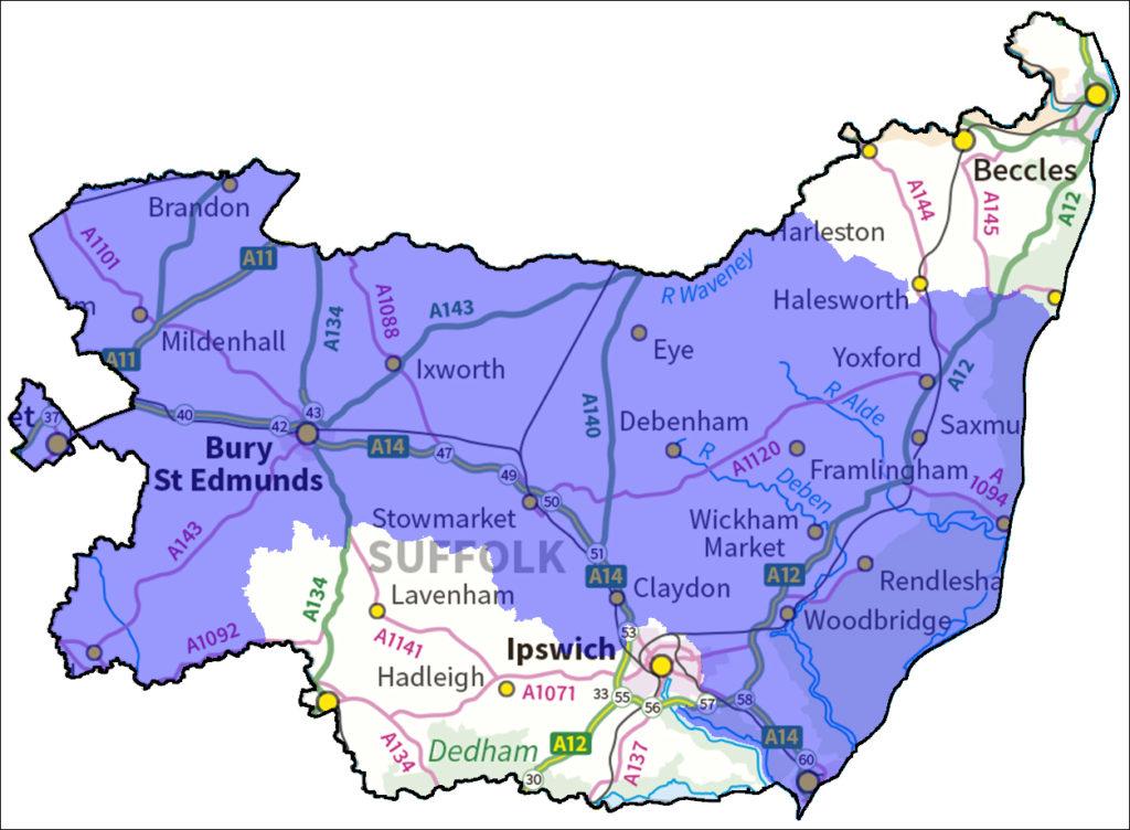 Unity Teaching School Hub map