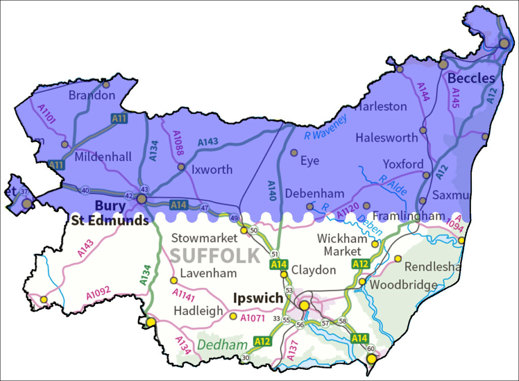 Wensum English Hub map